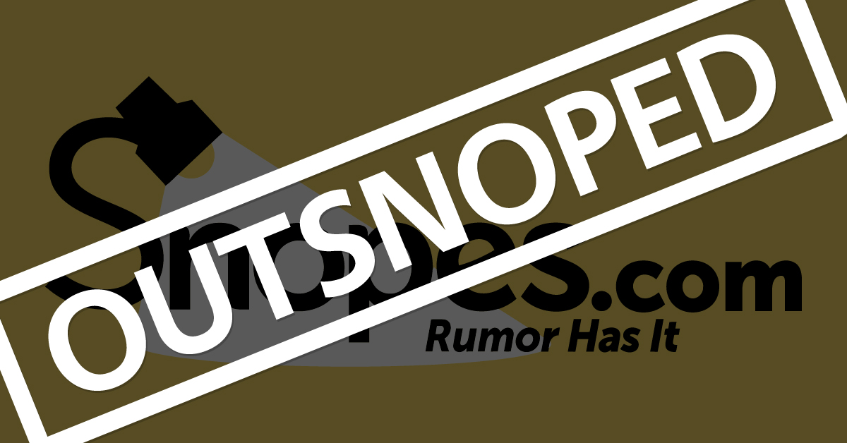 Snopes: A Disinformation Operation