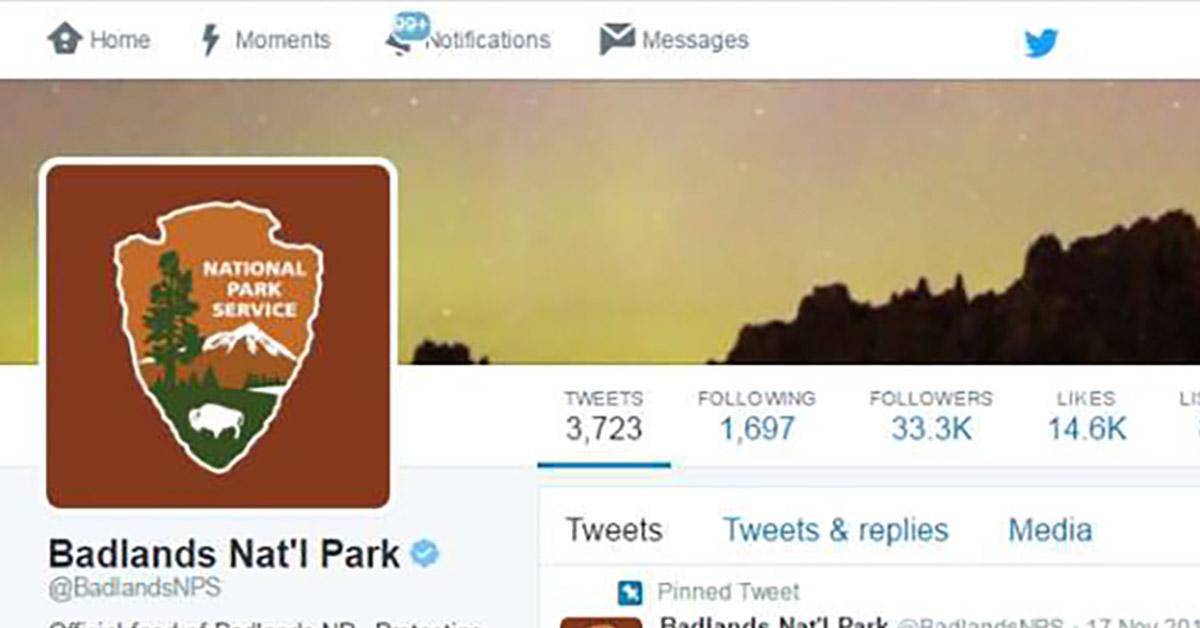 technology news blog national parks service goes rogue response trump twitter