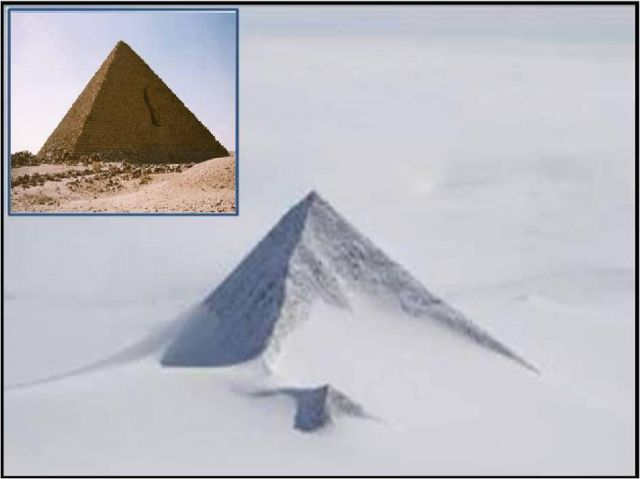 Risultati immagini per Third Snowy Pyramid Recently Discovered in Antarctica Could Rewrite History