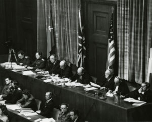 Judges at the Nuremberg Trials.