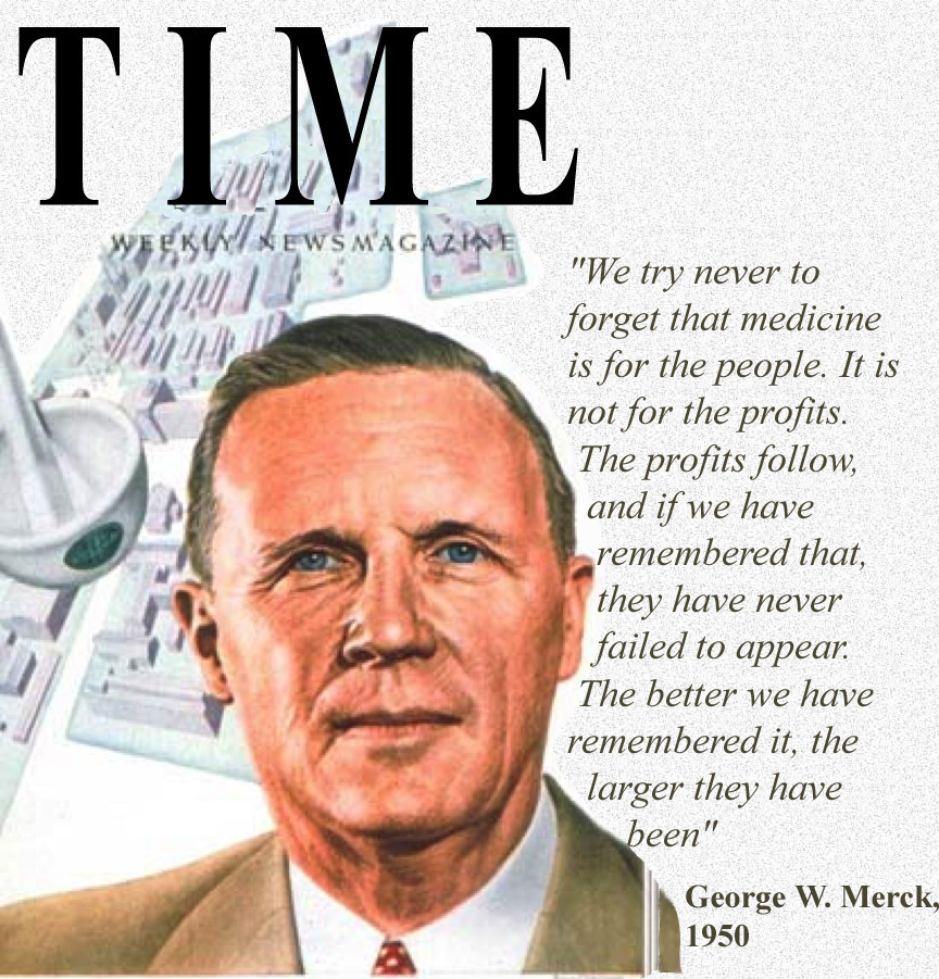 George W Merck, Merck & Co, Time Magazine