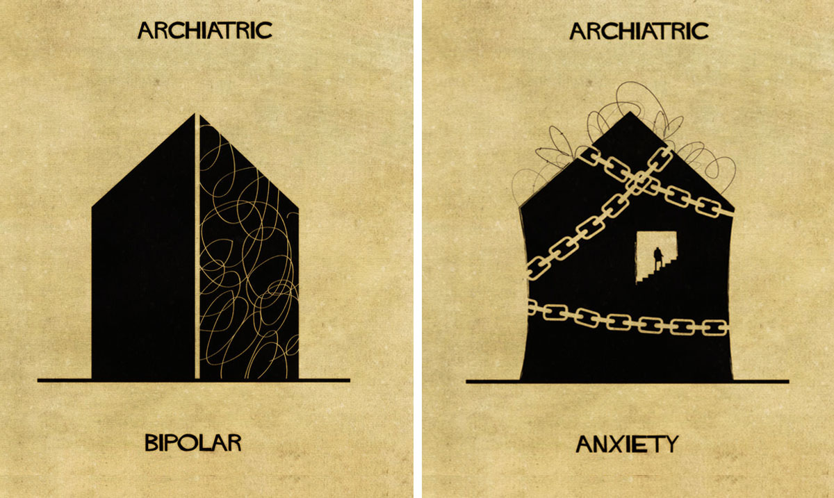 16 Mental Illnesses Accurately Illustrated Through Architecture