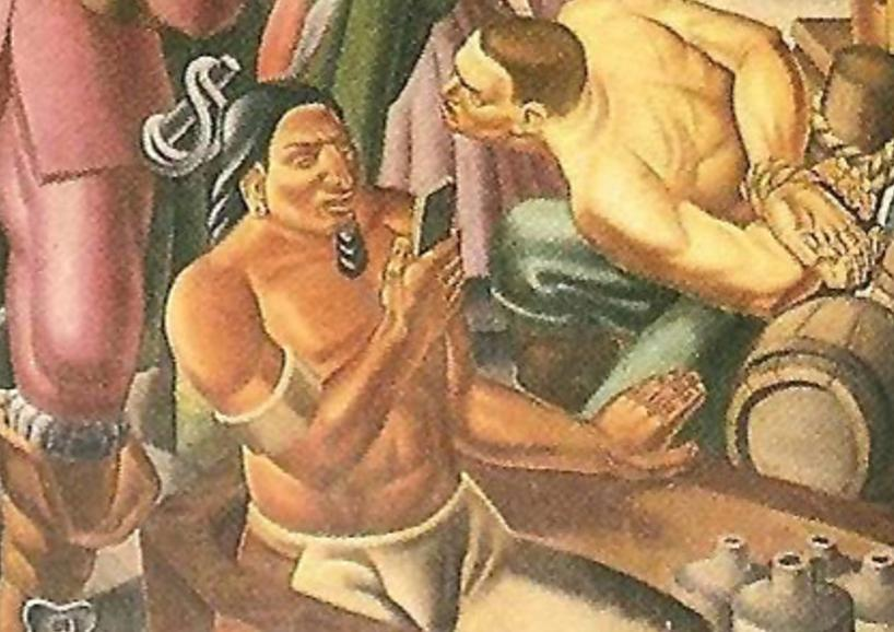 Do You See A Man Holding An iPhone In This 1937 Painting?