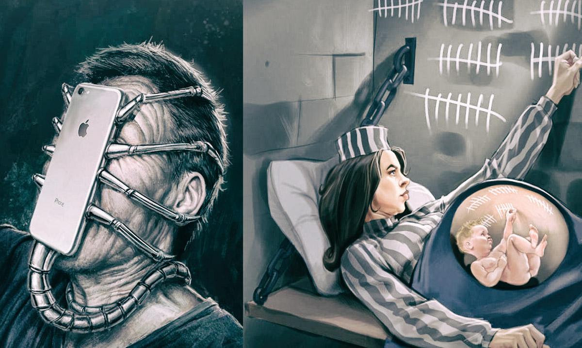 20+ Illustrations that Satirically Portray Modern Society