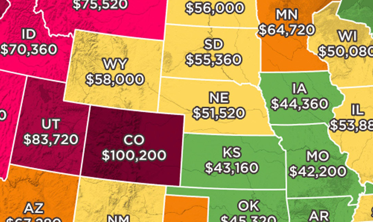 This Map Shows How Much You Need To Make To Afford A Home In Every State