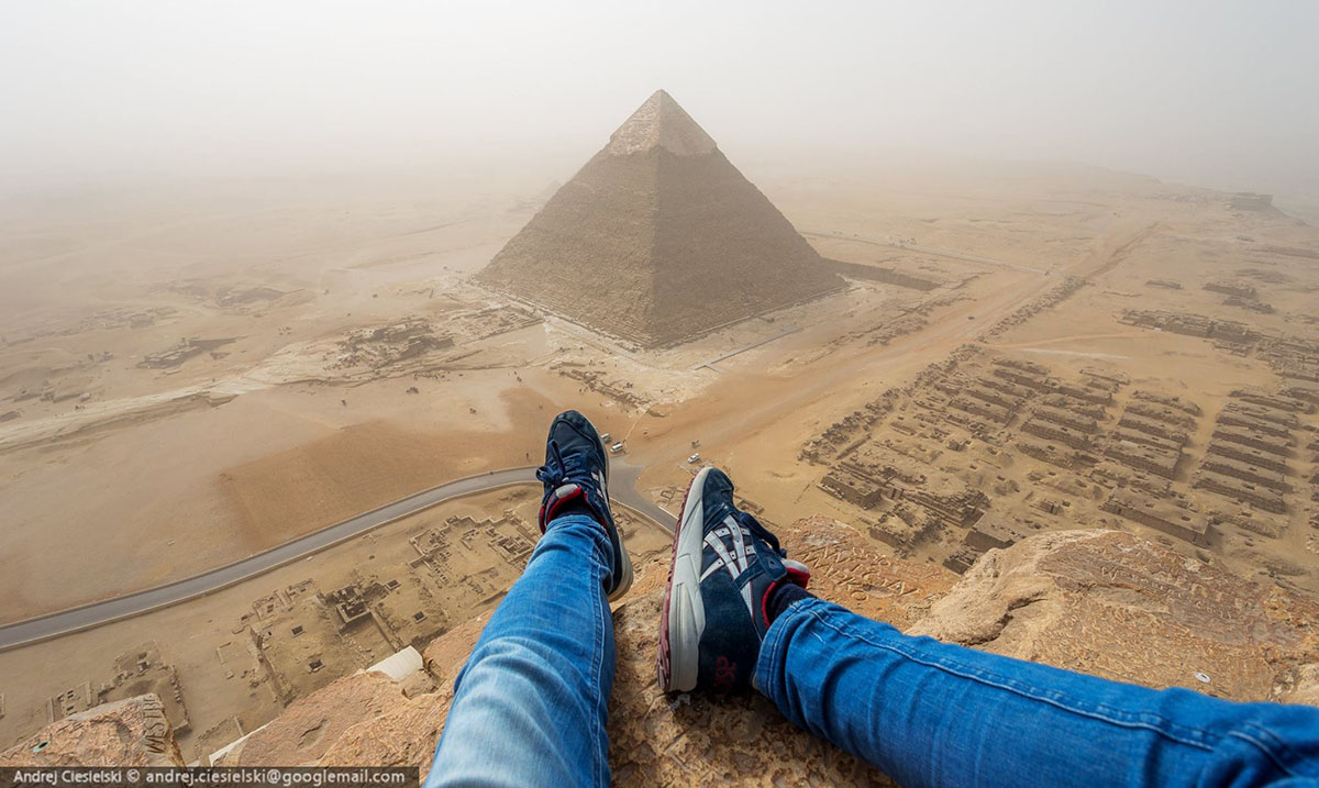 Watch As Teen Illegally Climbs The Great Pyramid Of Egypt