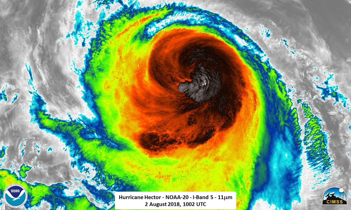 Hurricane Hector Reaches Wind Gusts As High As 160 MPH, Causing Significant Impact