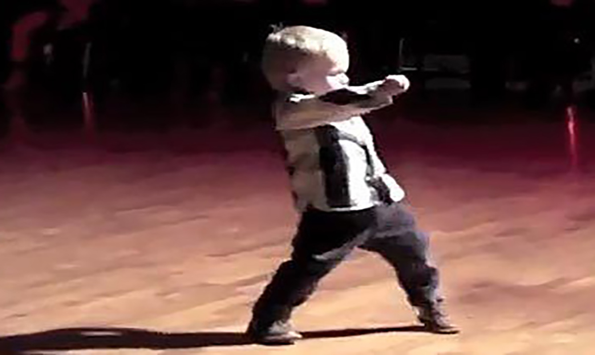 Toddler Puts On One Hell of a Show When His Favorite Song Comes On