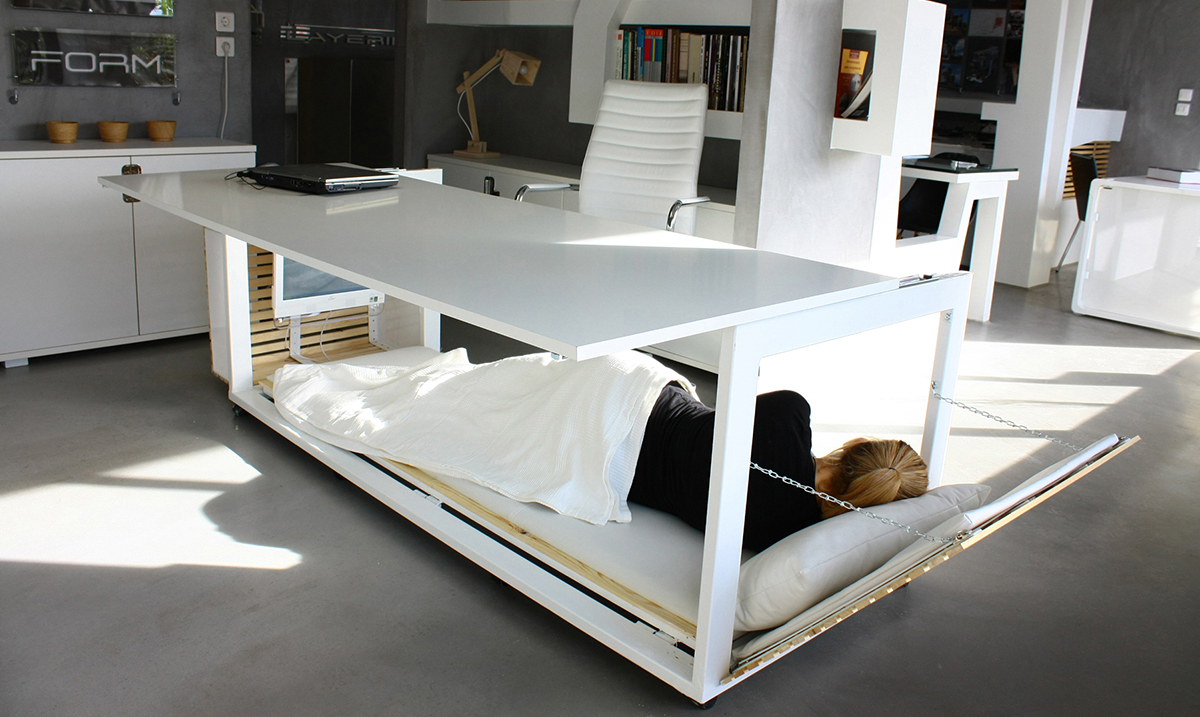 Take A Nap At Work With Ease With This Amazing Desk That Turns Into a Bed