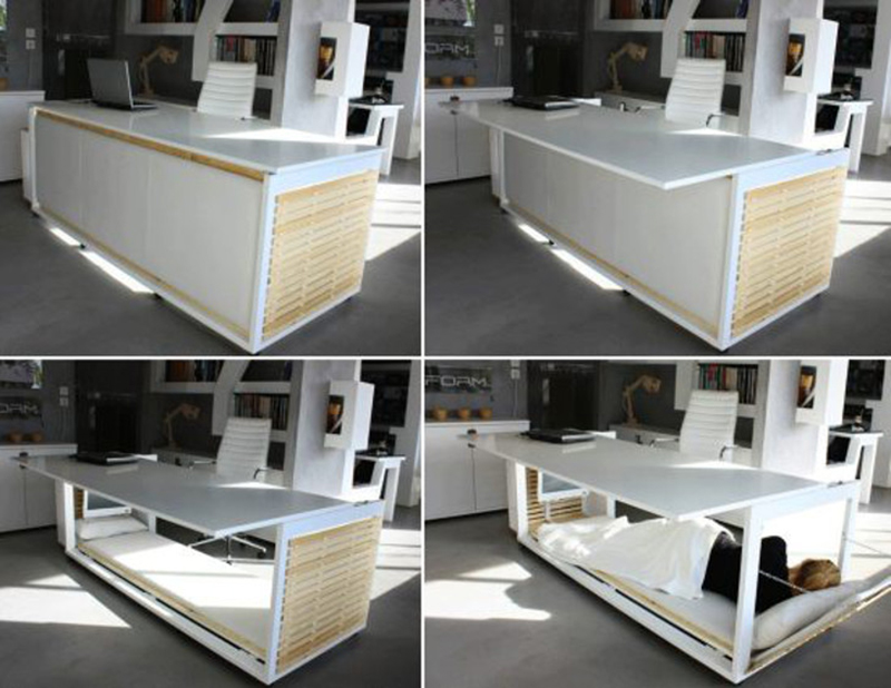 Take A Nap At Work With Ease With This Amazing Desk That