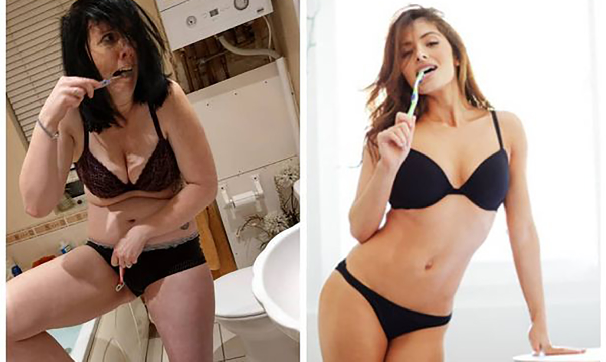 The Mom Who Makes Realistic Remakes of Celebrity Photos Has Became A Facebook Sensation