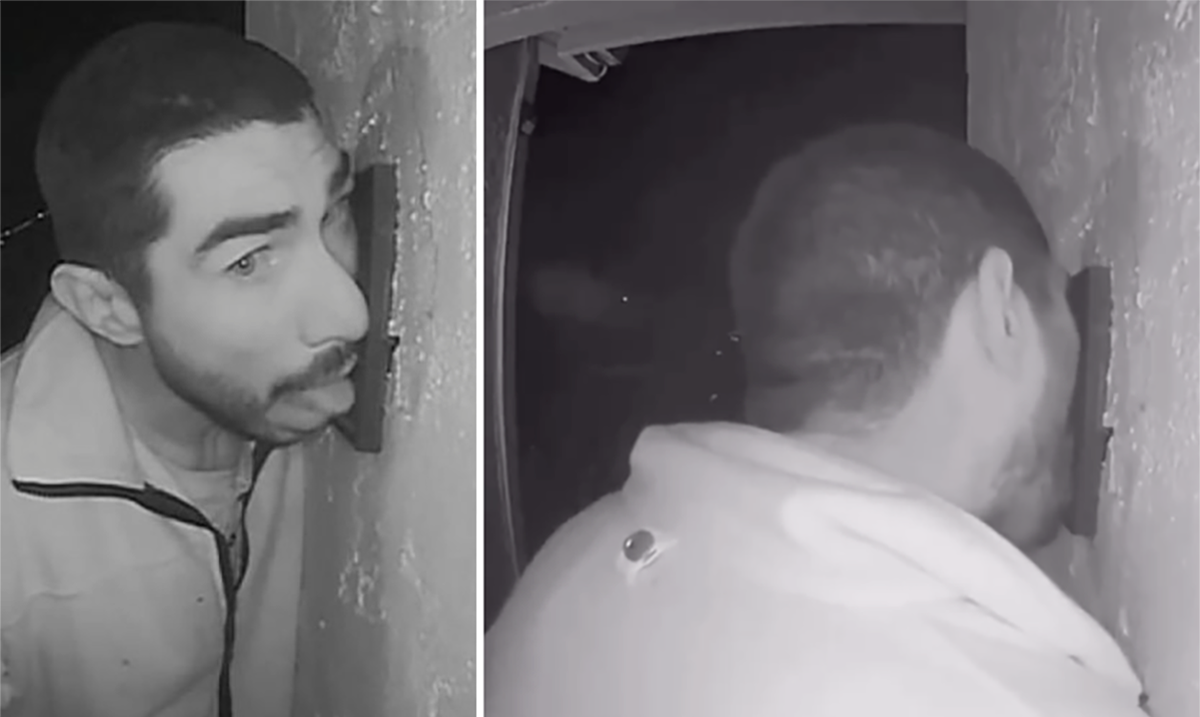 Trespasser in California Caught On Camera Licking Family's Doorbell For 3 Hours!
