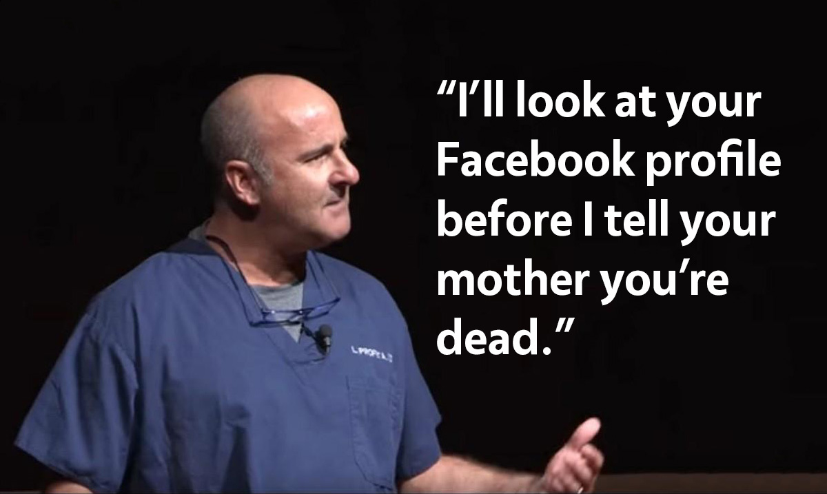 Doctor Reveals Heartbreaking Reason He Checks Dead Patients Facebook Before Notifying Parents