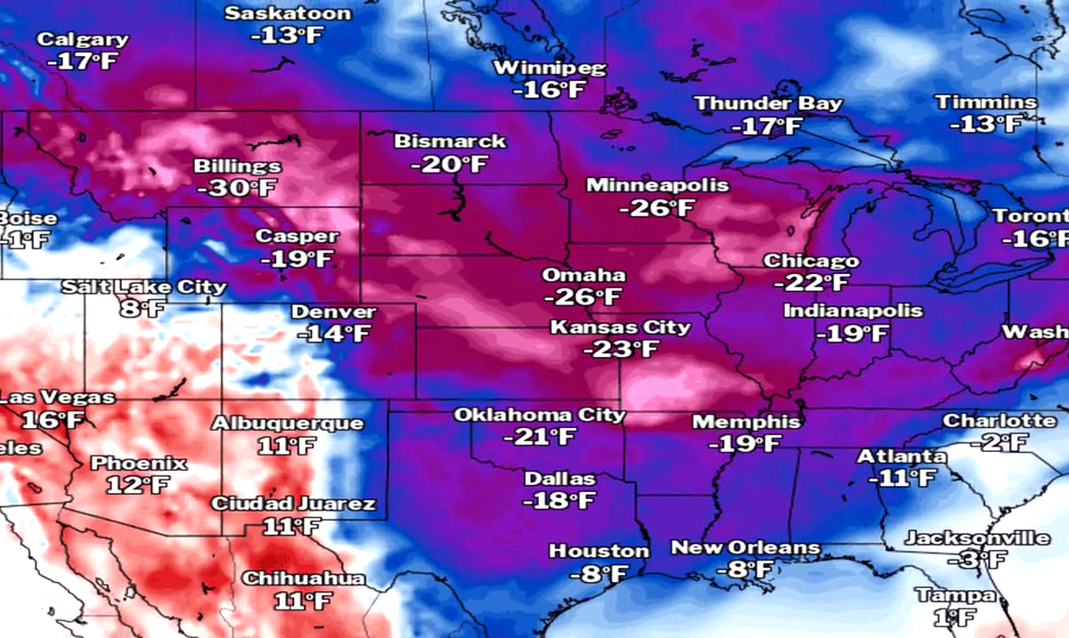 A Brutal Arctic Air Mass To Take Over The United States