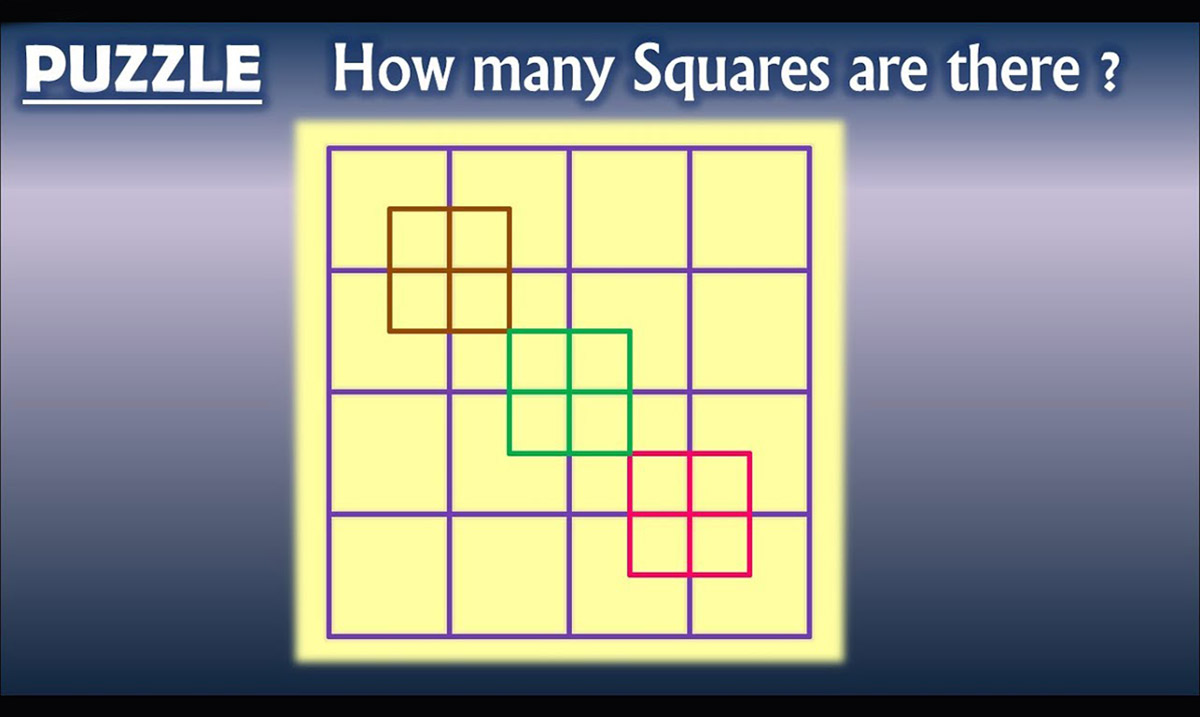 How Many Squares Are In This Picture?