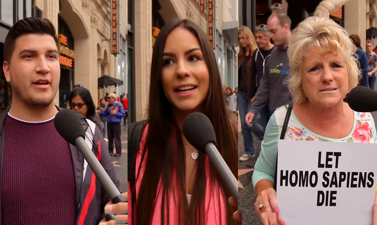 Watch As People Unknowingly Root For The Extinction Of Homo Sapiens