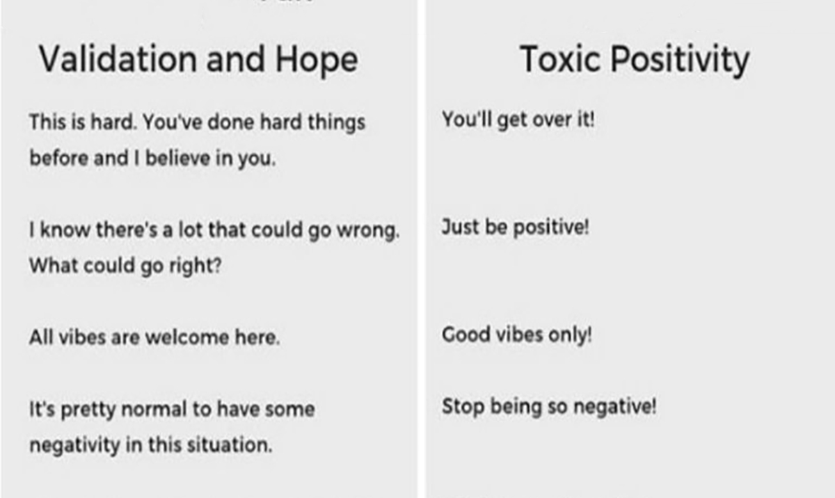 A Brilliant Chart That Explains The Difference Between Support & Toxic Positivity