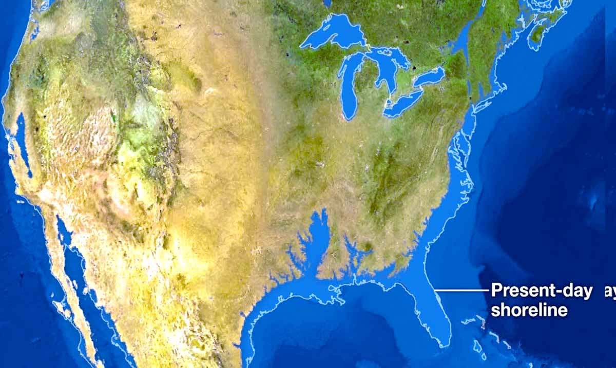 This Is What The World Would Look Like If All The Ice Caps Melted