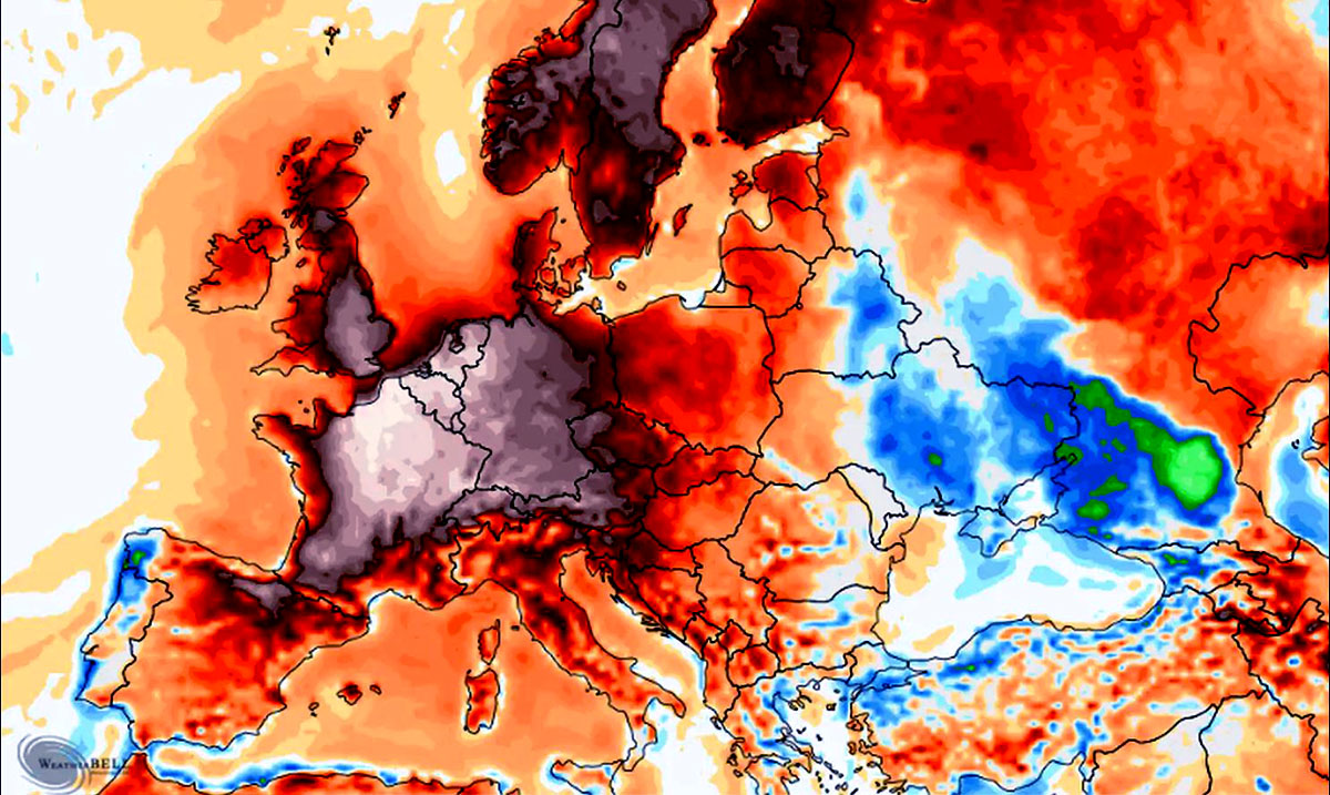 Europe Continues To Face Record Breaking Temperatures