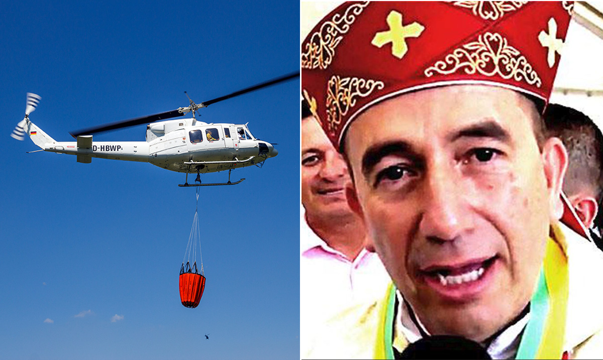 Catholic Bishop Plans To Drop Holy Water From Helicopter To Rid Entire City of 'Demons'