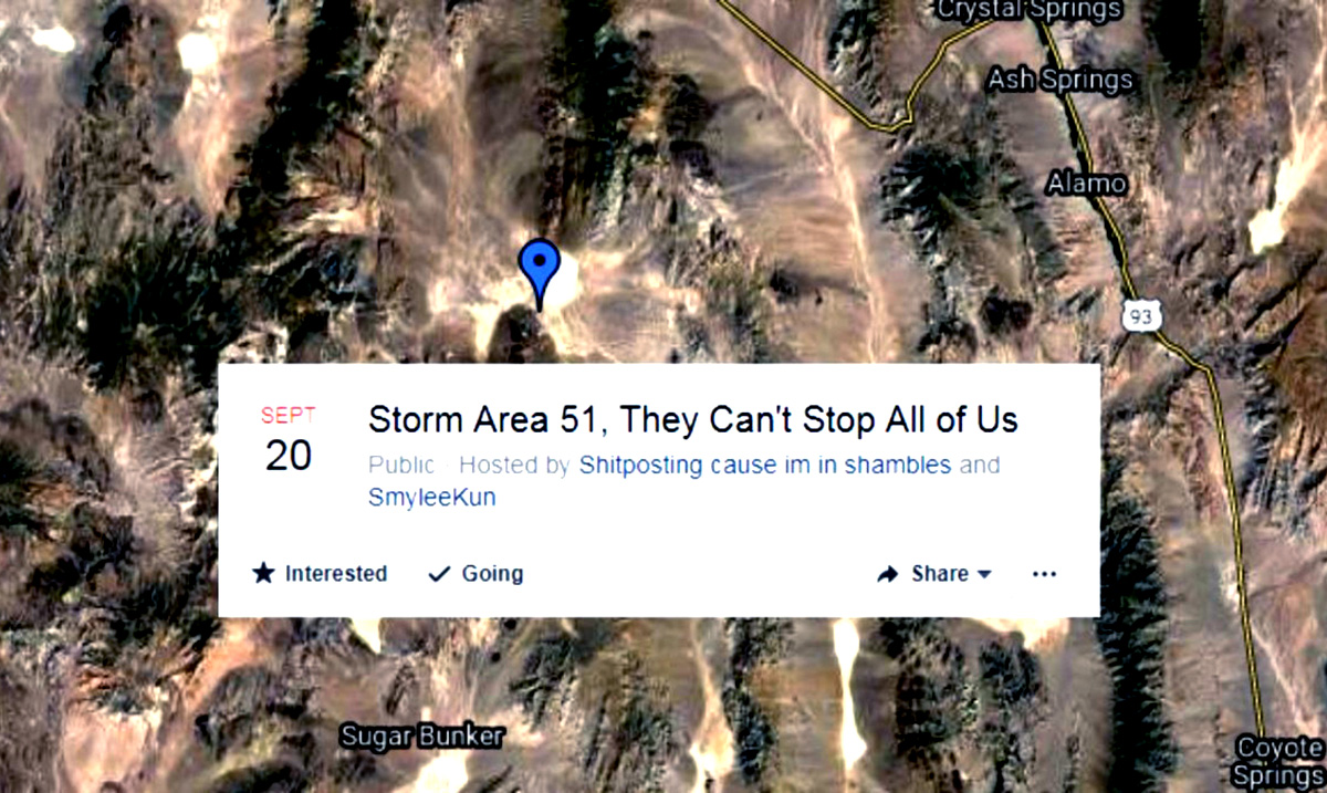 """Nearly 500,000 Pledge To Storm Area 51 """"They Can't Stop Us All"""""""