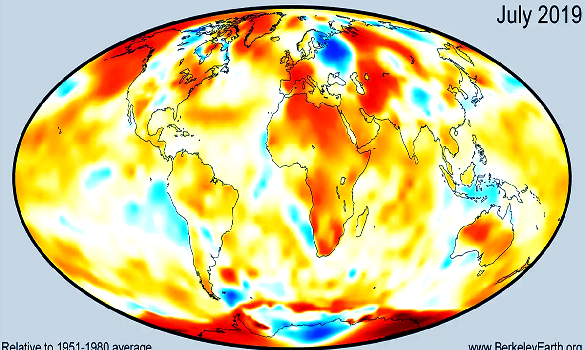 July Officially Earth's Hottest Month In Recorded History