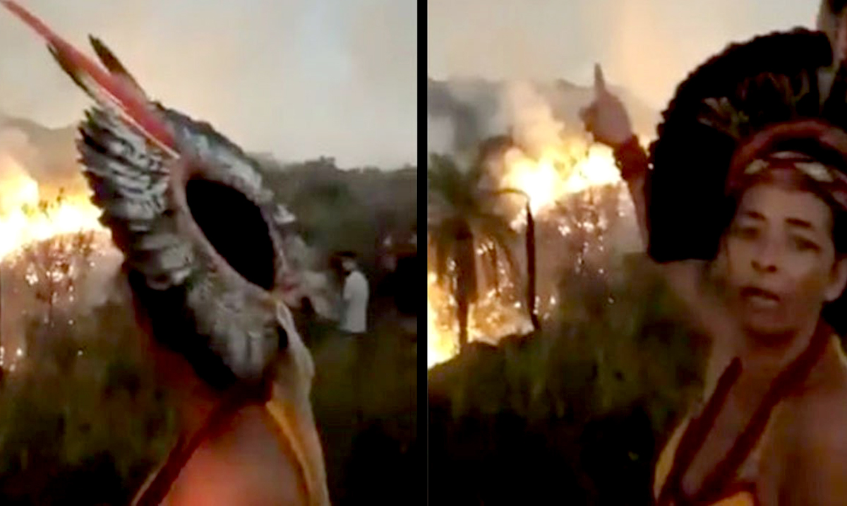 Video Shows Amazonian Woman Claim That The Rainforest Is Deliberately Being Set On Fire