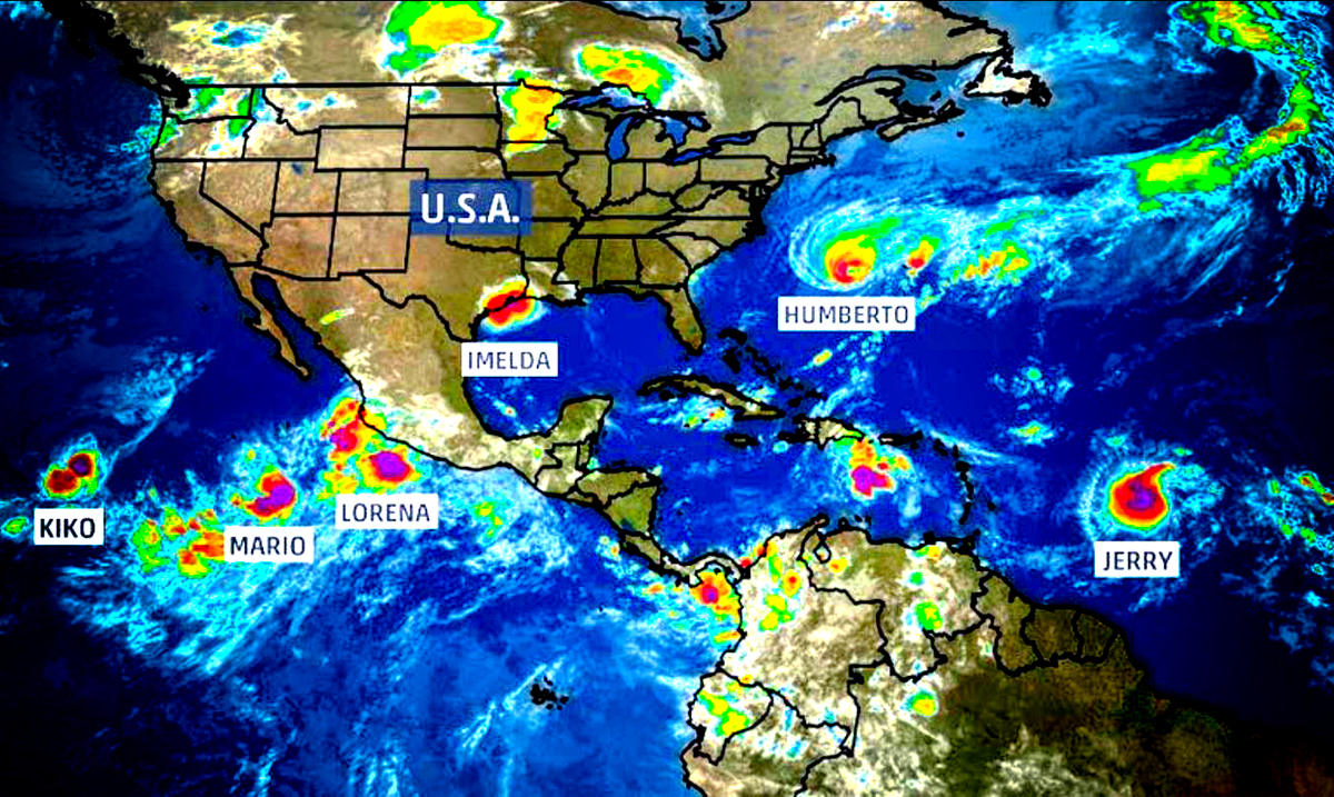 There Are Currently 6 Storms Spinning Across The Atlantic And Pacific