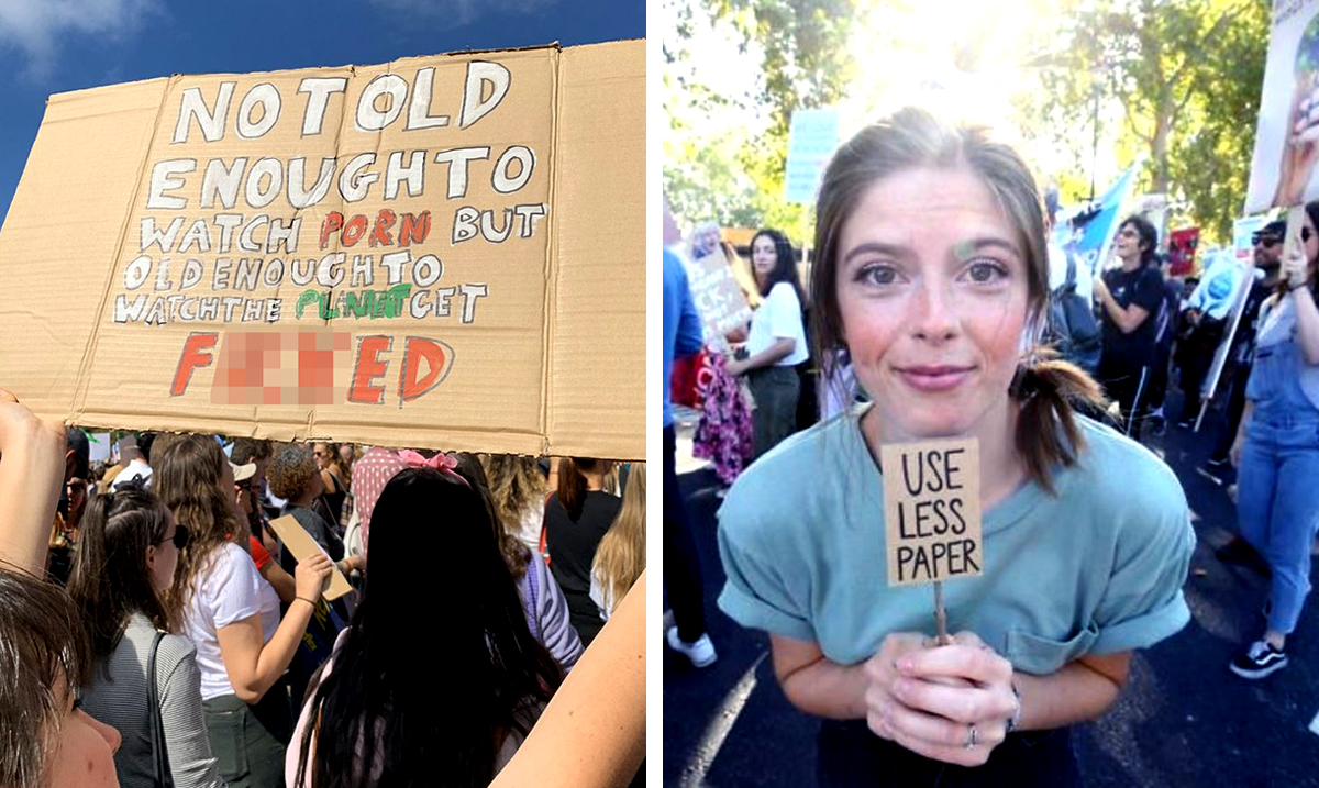 15 Of The Most Hilarious Signs From The 2019 Climate Strike