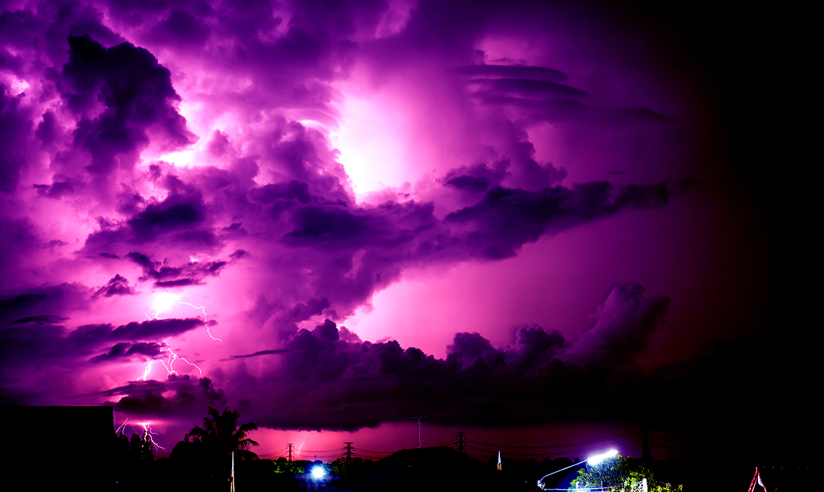 The Florida Sky Turned Purple After Hurricane Dorian