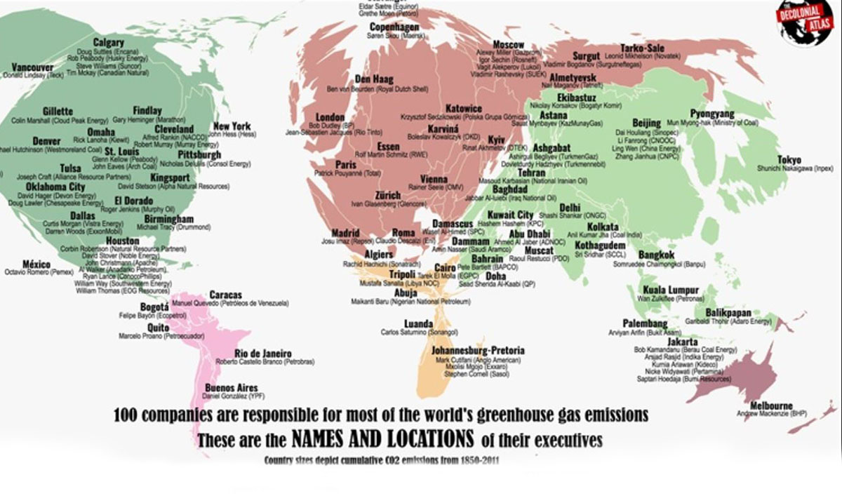 The Names And Locations Of The Top 100 People Destroying Our Planet