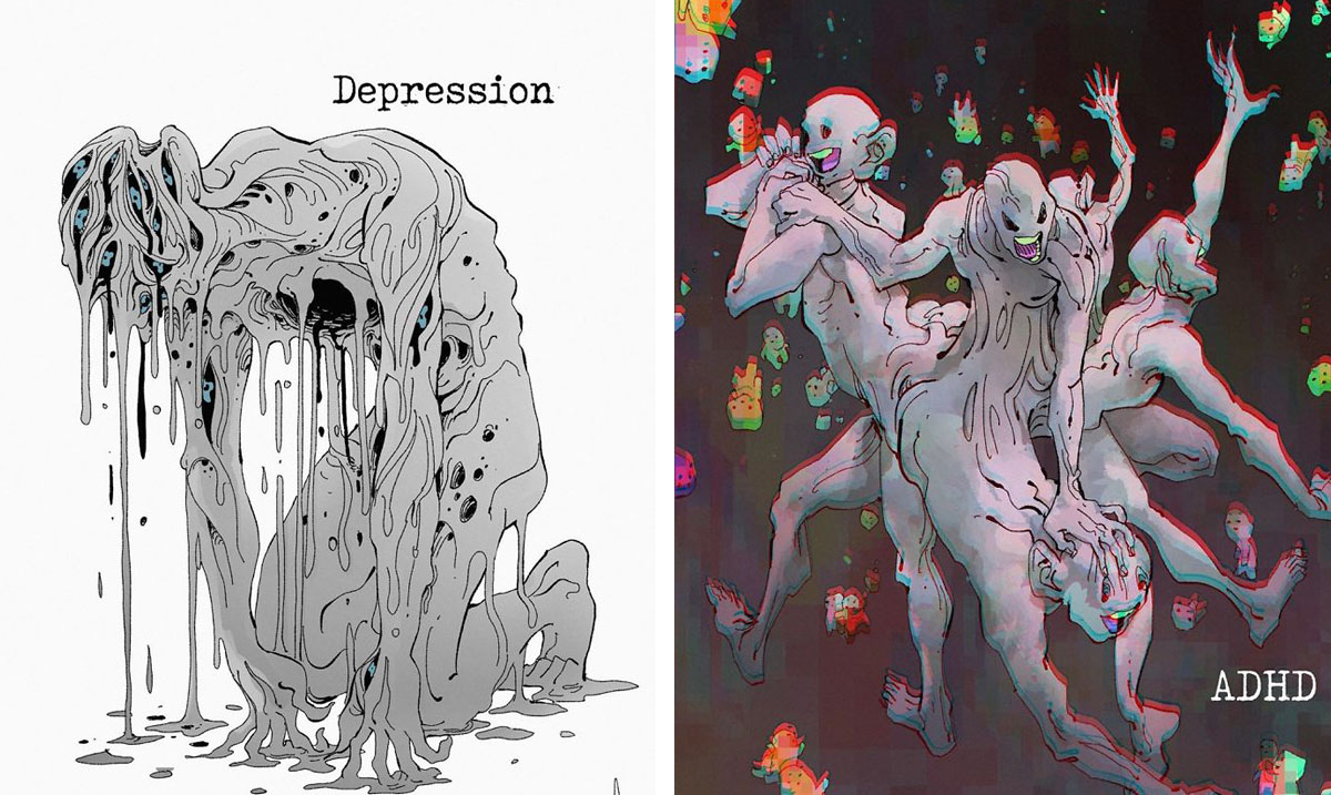 This Canadian Artist Brings Mental Illnesses To Life As Haunting Creatures