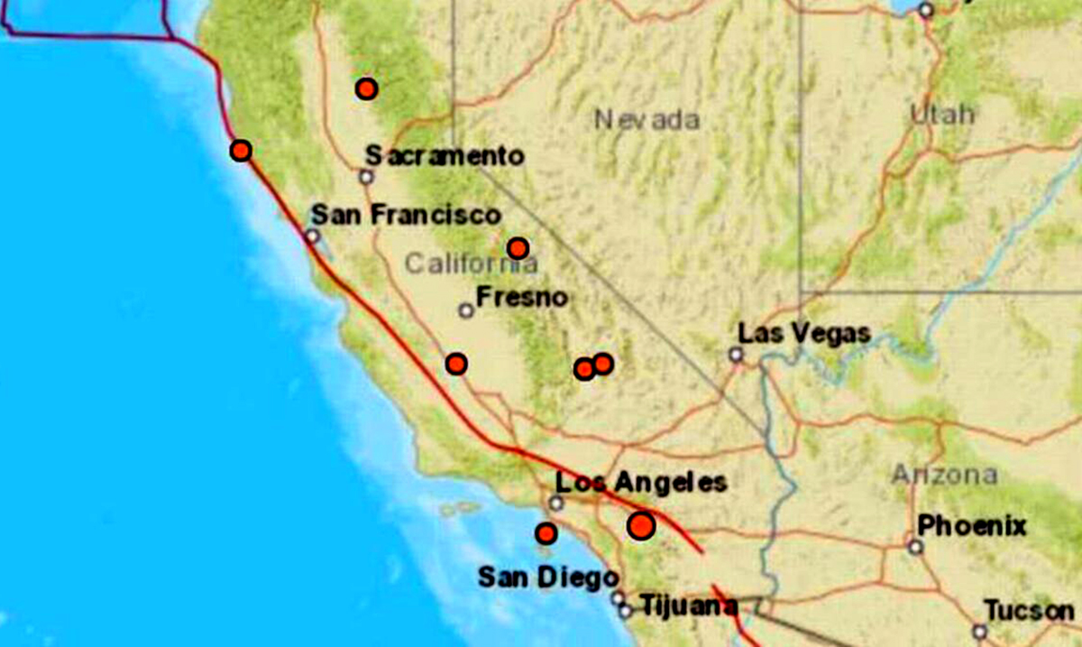 9 Earthquakes Hit California In Less Than 24 Hours – Christmas In California