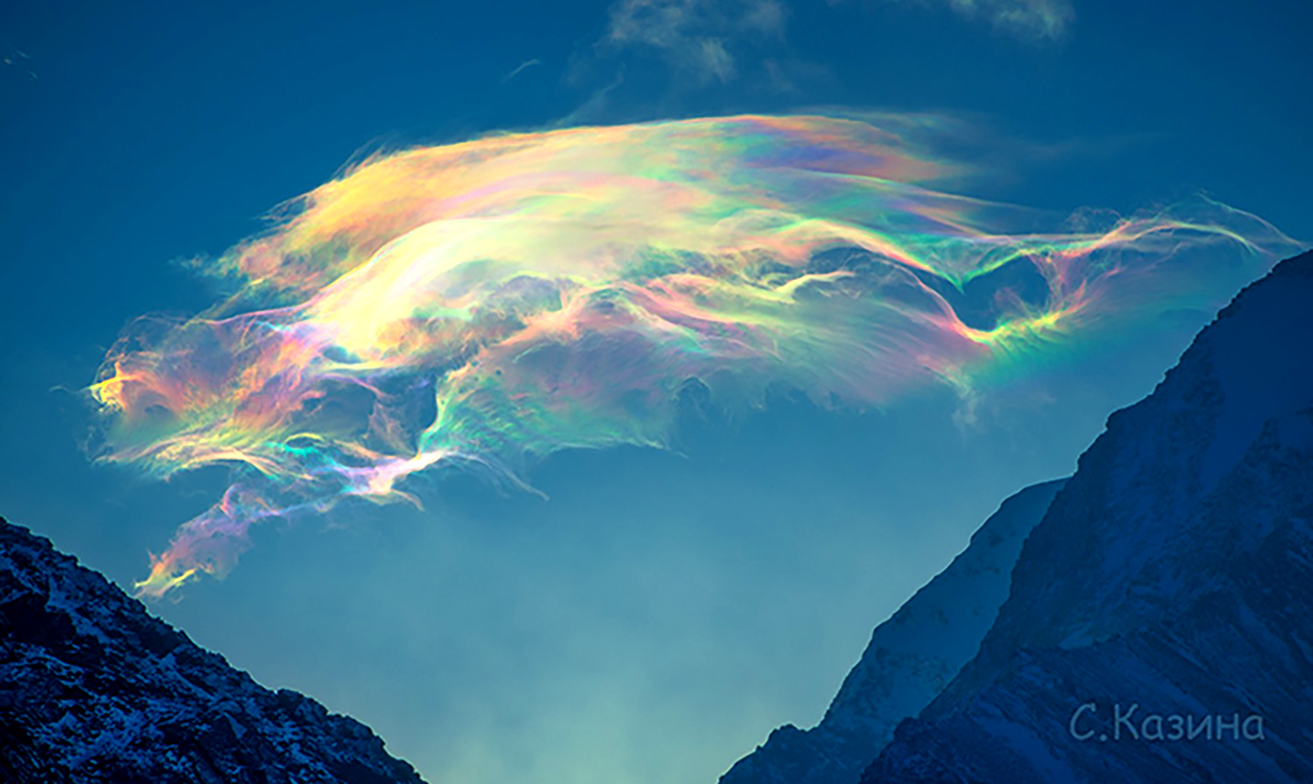 Mesmerizing Rainbow Clouds Captured On Siberian Peak, This Is Mother Nature