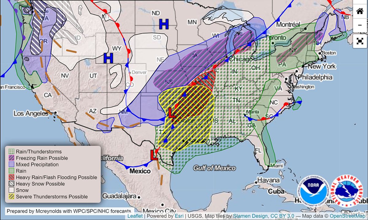 Dangerous Storm Brings Severe Weather – Tornadoes, Snow, And More