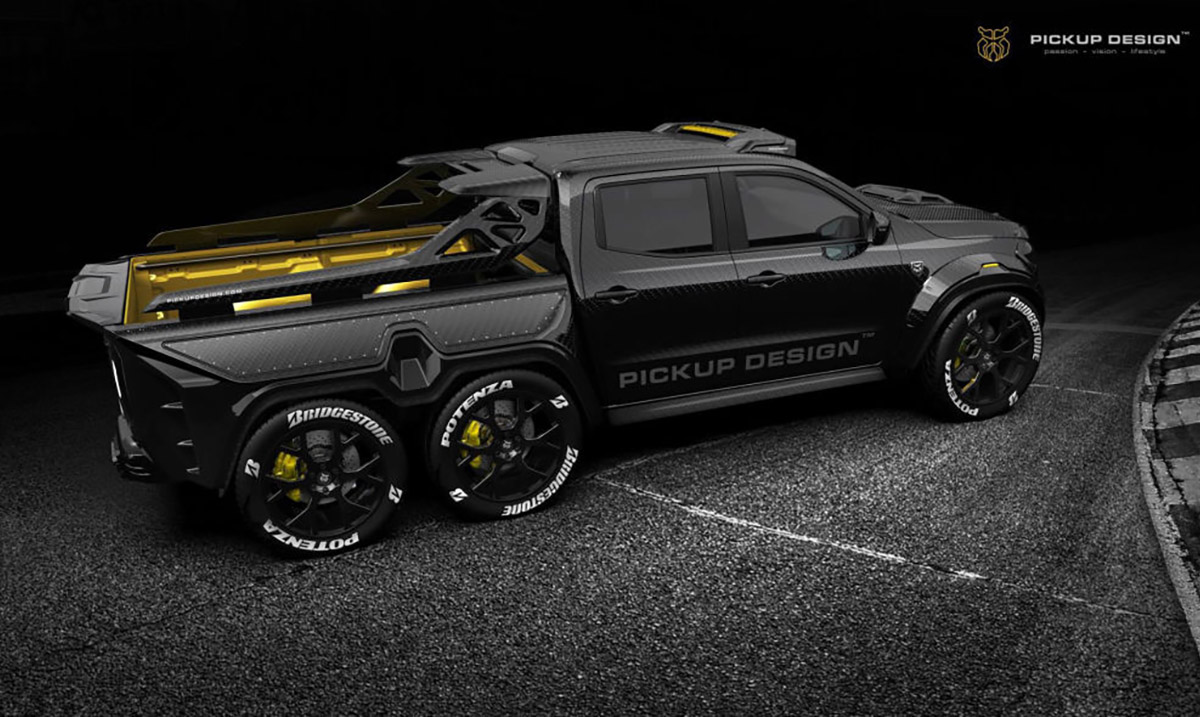 Limited Edition Mercedes-Benz 6×6 Carbon Fiber Pickup Truck – It's A Monster