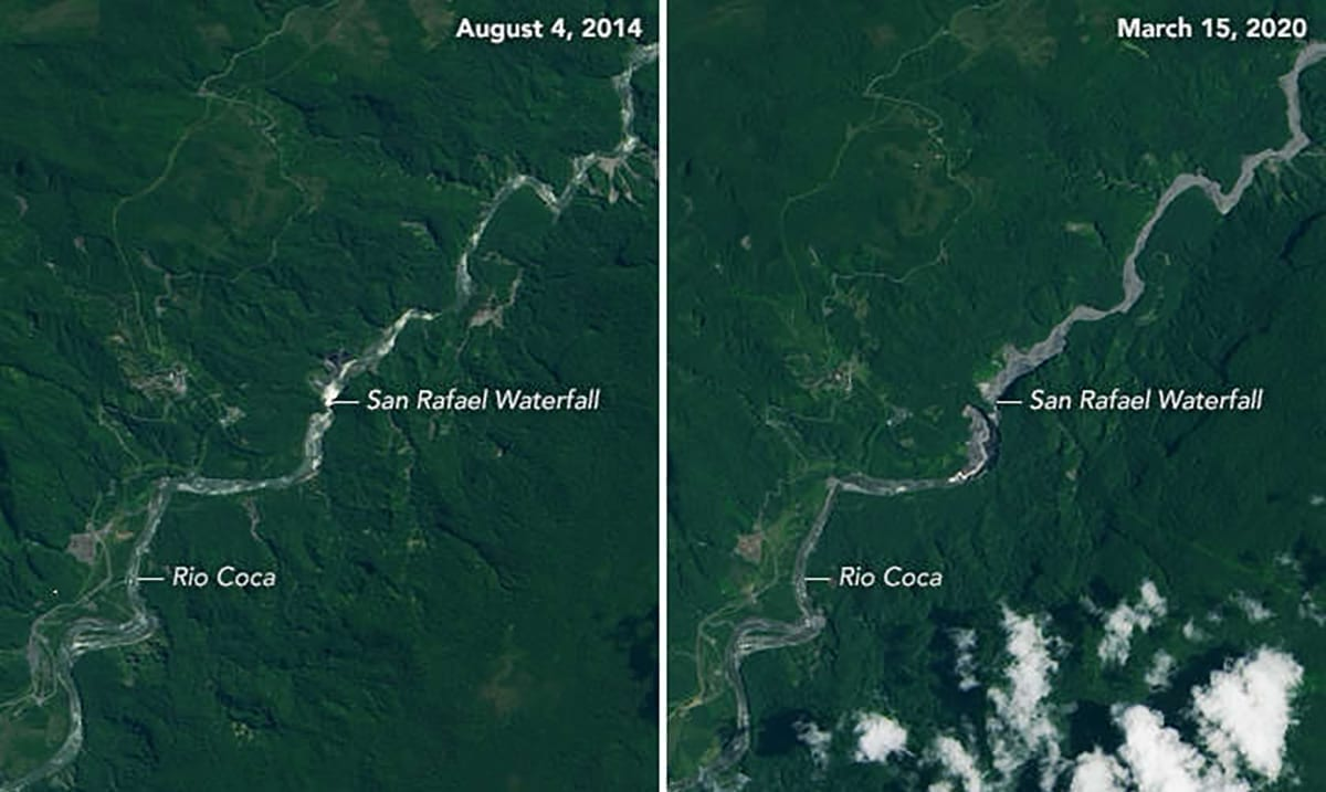 Ecuador's Tallest Waterfall No Longer Flows, Water Source Seemingly Disappears