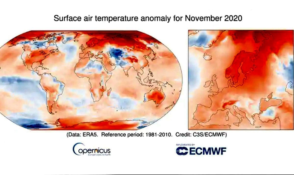 November 2020 Was The 'Warmest' On Record