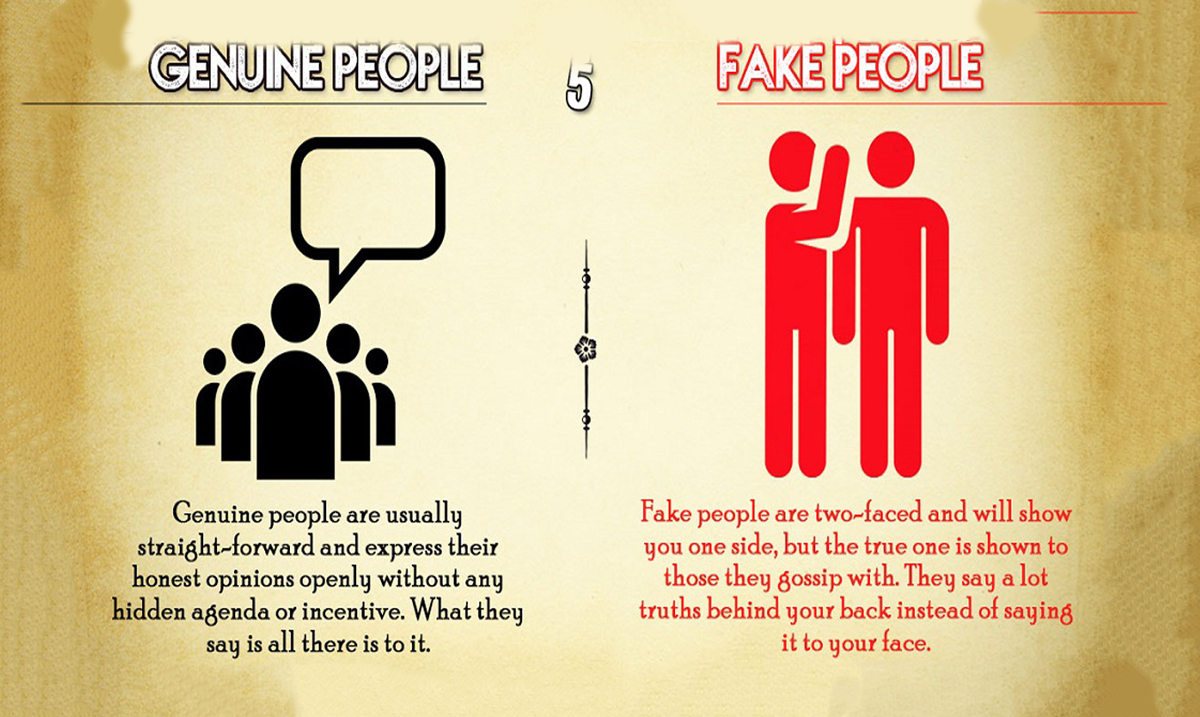 10 Differences Between Genuine and Fake People